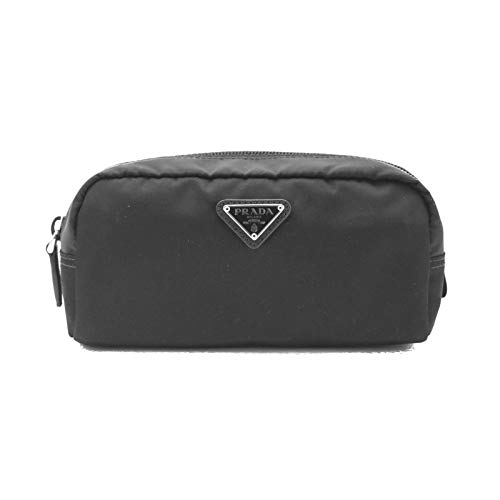 Prada Unisex Toiletry and Cosmetics Travel Zippered Pouch Case Bag in Tessuto Nylon and Saffiano ()