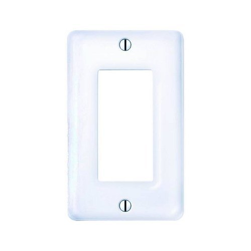 Amerelle Allena Single Rocker Ceramic Wallplate in White