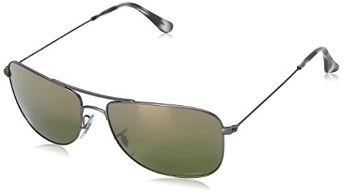 Ray-Ban Men's RB3543 Chromance Polarized Sunglasses, Gunmetal/Green Mirror, 59 - Ban Polarized Chromance Ray
