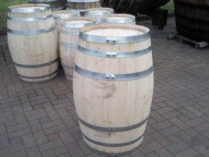 JUNIT 100 Liter neues Kastanienholzfass H.79cm, D.53cm-Holzfass