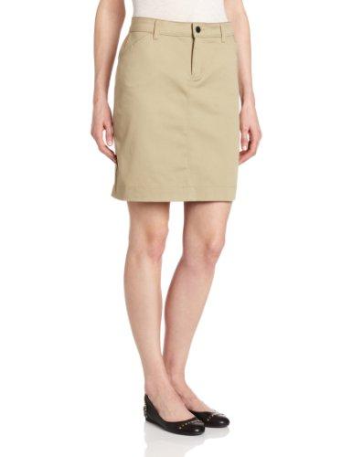 Dickies Womens Skirt - Dickies Women's Genuine Straight Stretch Twill Skirt, Desert Sand, 4