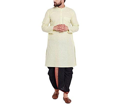 Dhoti Kurta (Sojanya Since 1958 Men's Cotton Dhoti Kurta Set)