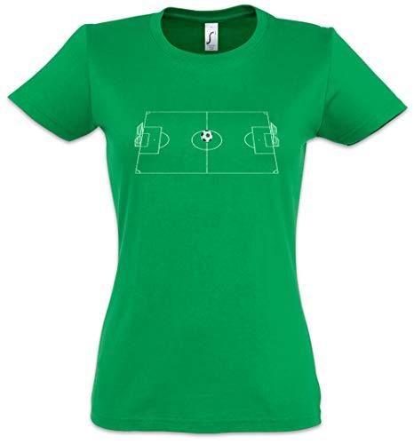 Urban Backwoods Football Field II Women T-Shirt Green Size S