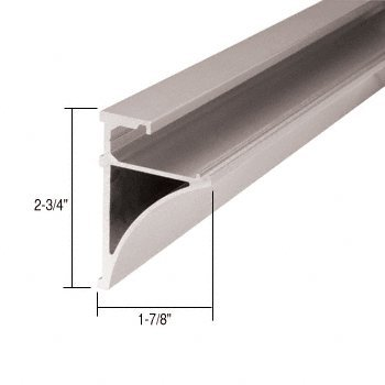 C.R. LAURENCE SE3896BN CRL Brushed Nickel 96'' Aluminum Shelving Extrusion for 3/8'' Glass