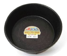 MILLER CO Rubber Feed Pan, 8 quart, Black (Feed Pan compare prices)