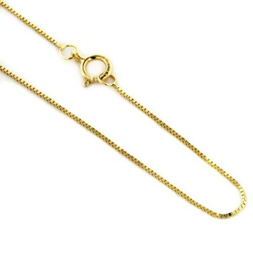 14k Yellow Gold Very Thin 0.45mm Box Chain 18 Inches 14k Yellow Gold Victorian Antique