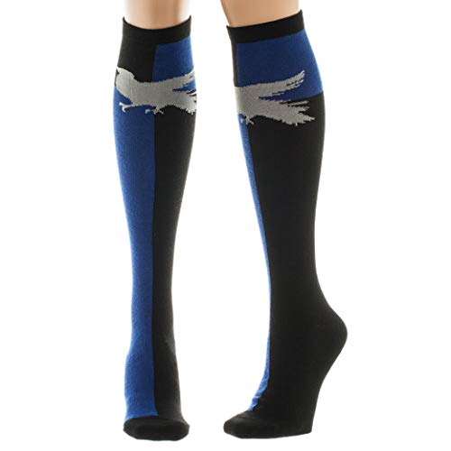 Harry Potter Ravenclaw Knee High Womens Socks, Sock Size 9-11 -