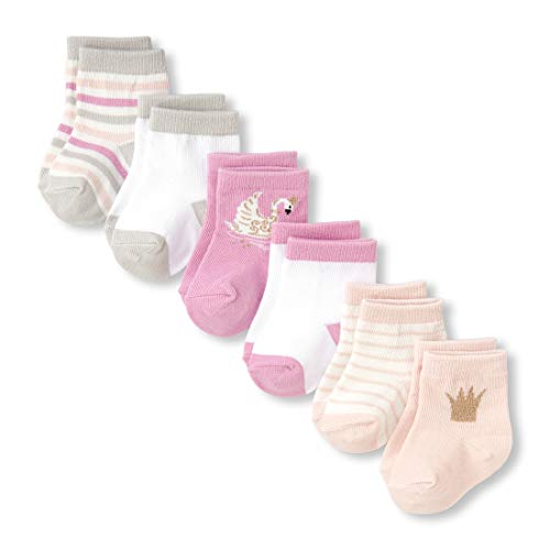 - The Children's Place Baby Girls 6 Pack Sock Bundle, multi CLR 6-12 MONTHS