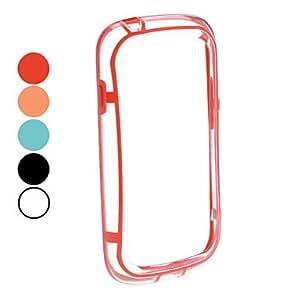 ZXM- Soft TPU Bumper Frame Case for Samsung Galaxy S3 Mini I8190 (colores surtidos) , Rojo
