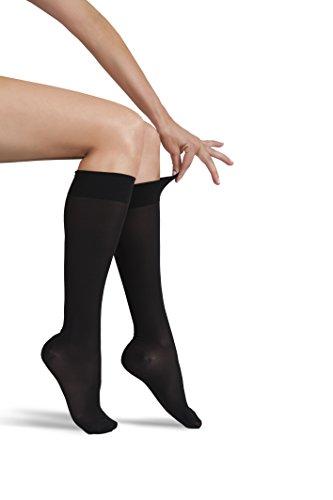 ITA-MED Sheer Knee Highs, Compression(20-22 mmHg), Black, XX-Large