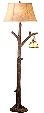 Vintage Direct CFL131211 63.5 In. Tree Floor Lamp With Glass Night Light