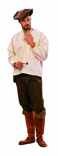 RG Costumes Men's Renaissance Peasant, Brown, Standard Size (36-40)