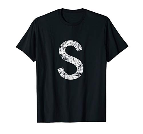 Light S Alphabet Letter Distressed T-Shirt