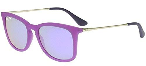 Ray-Ban Jr. Kids RJ9063s Square Sunglasses, Violet Fluo Trasp Rubber, 48 mm