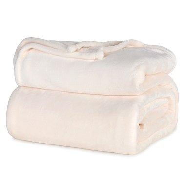 Berkshire Velvetloft Polyester Blankets Ivory King