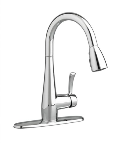American Standard 4433.300.002 Quince High-Arc Pull-Down Single Lever Handle Kitchen Faucet, Polished Chrome (Brass Lever Single Forged Faucet)