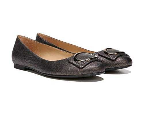 Naturalizer Womens Geonna Leather Round Toe Loafers, Bronze, Size 8.5