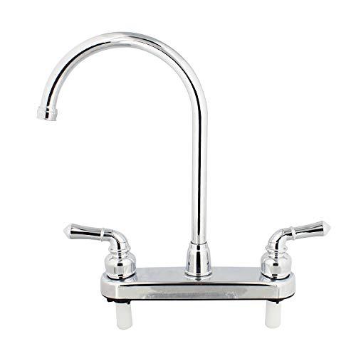 Empire Faucets RV Kitchen Faucet Head Replacement, 8 Inch Gooseneck Kitchen Sprayer Faucet with Teapot Handles, Chrome