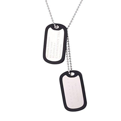 Custom Engraved Medical Pendant Stainless