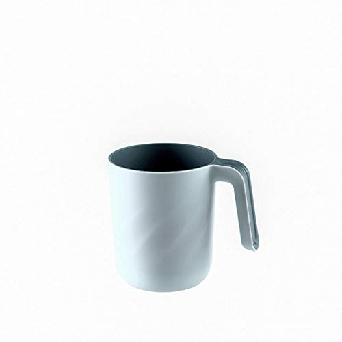 IslandseBathroom Toothbrush Cup Toothpaste Holder Straw Cup Drinking Wash Gargle Cup (Light Blue)
