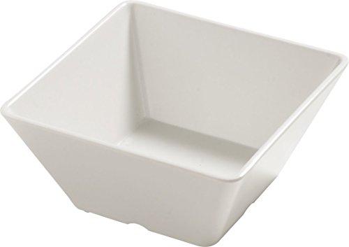 sam Melamine Displayware Square Bowl, 26 oz., Bavarian Cream (Case of 6) ()