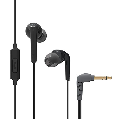 RX18P Comfort-Fit In-Ear Headphones with Enhanced Bass and Inline Microphone and Remote (Black) (EP-RX18P-BK-MEE)