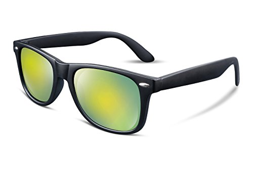 FEISEDY Great Classic Polarized Sunglasses Men Women Mirrored Lens Yellow-Green - Sunglasses Polarized Mirrored