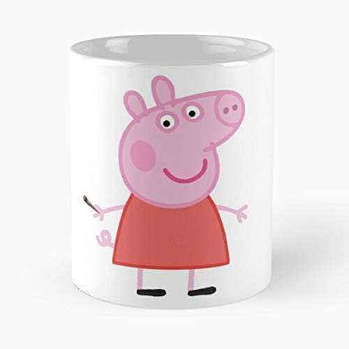 Collegehumor Girls Halloween (Stoner Peppa Classic Mug - The Funny Coffee Mugs For Halloween, Holiday, Christmas Party Decoration 11 Ounce)