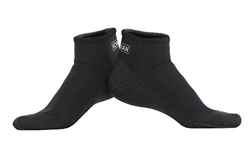 KORAMAN Neoprene Fin Socks 3mm Wetsuits Booties for Scuba Free Diving Snorkeling Water Activities-Protection Thermal (Short Cut, XL)