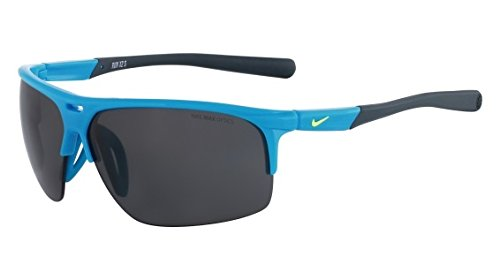 Nike EV0800-400 Run X2 S Sunglasses (One Size), Blue Lagoon/Dark Magnet Grey, Grey Lens