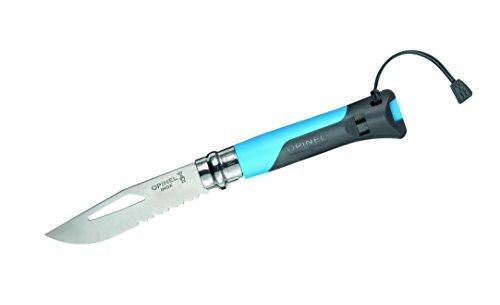 Opinel No. 8 Outdoor Sandvik 12C27 Blade, Blue, 4 3/8in. Clo