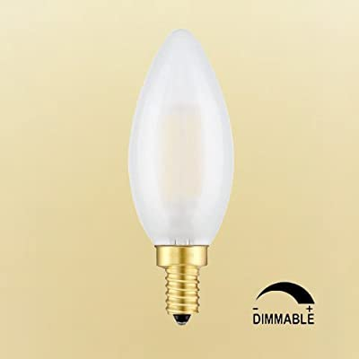 CRLight 6W Dimmable LED Candelabra, E12 Base, 2700K / 3200K / 4000K / 6000K, 6 Pack