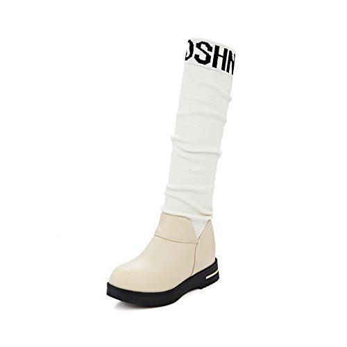 Inconnu 1to9mns01895 - Sandales Compensées Pour Femmes, Beige (beige), 35 Eu