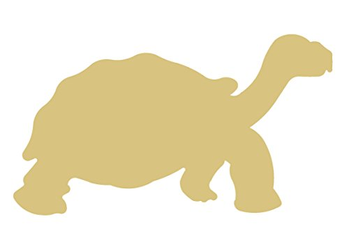 (Turtle Cutout Unfinished Wood Tortoise Shell Sea Swimming Animal Zoo MDF Shape Canvas Style 1)