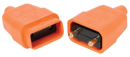 2 PIN ORANGE RUBBER CONNECTOR 10A IN-LINE GARDEN LAWNMOWER 2PFC10 PLUS ABM LAMP CATALOGUE by MERCURY Jegs 429.304UK