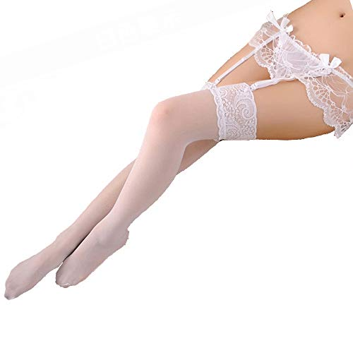 Shentukeji Women's Lace Garter Belt Stockings Sets with Butterfly Panty - Lace Butterfly Stockings