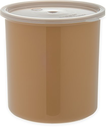 Carlisle 030206 Solid Color Commercial Round Storage with Lid, 2.7 Quart Capacity, - International Shipping Tracking Standard