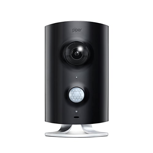 Piper classicAll-in-One Security System with Video Monitoring Camera, Black