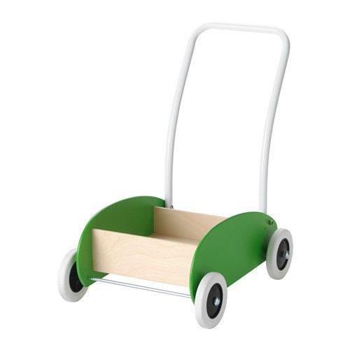 IKEA Mula Toddle Wagon Walker Green Birch 302.835.78