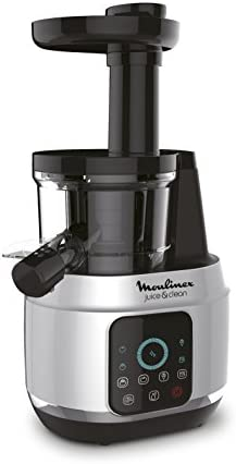 Moulinex Juice & Clean Powerful Slow Juicer with 4 Programs, 150