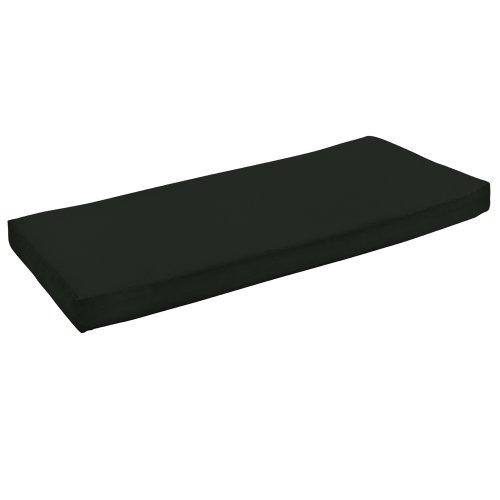 Arden Companies Strathwood St. Thomas 2-Seater Loveseat Spun Polyester Cushion, Solid Black
