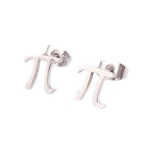 Stainless Steel Pi Sign Earrings