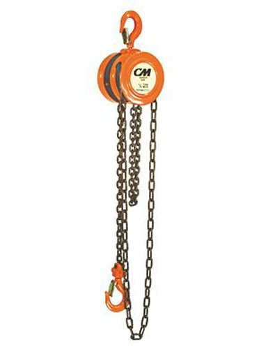 CM 2255 Series 622 Low Headroom Hand Chain Hoist, 1000 lb. Capacity, 10' - Hand Hoist 10 Chain