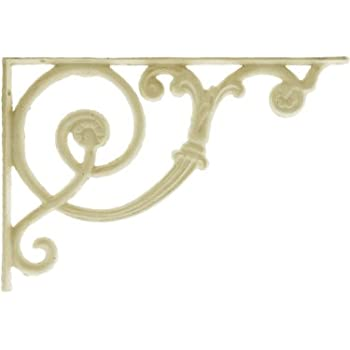 this item antique white scroll shelf bracket 8 18 x 12 decorative metal shelf bracket - Decorative Metal Shelf Brackets
