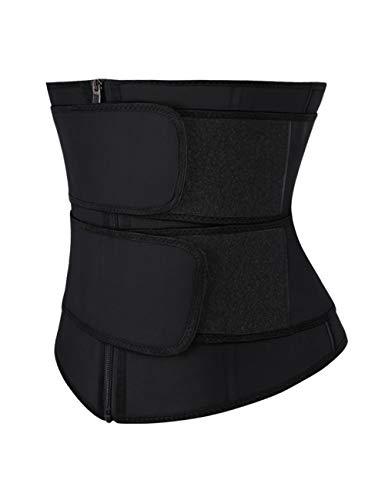 MASS21 Women Waist Trainer Cincher Waist Trainer Body Shaper Body Vest Body Double Body Shaper Tummy Control Body Shaper Black-Latex-L