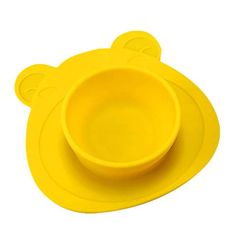 (Sunnyys Home Tools,Kids One Piece Silicone Placemat Plate Dish Food Tray Table Mat for Baby Toddler)