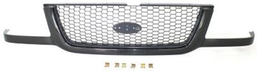 Crash Parts Plus Black Shell w/ Gray Insert Grille Assembly for 2001-2003 Ford Ranger FO1200395 (Grille Ford Ranger 2003)