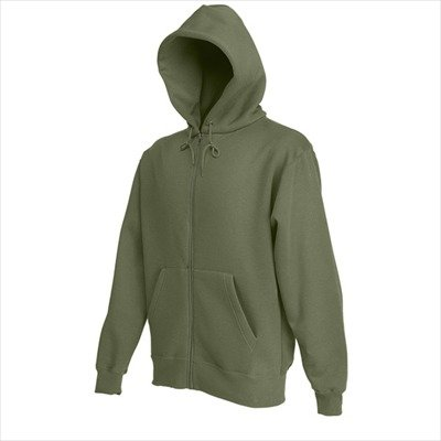 Fruit of the Loom - Kapuzen Sweat-Jacke 'Hooded Zip' XL,classic olive XL,Classic Olive