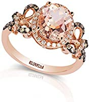 Effy 14K Rose Gold Morganite & Brown/White Diamond Ring, 2.66 TCW HRV0F441DM