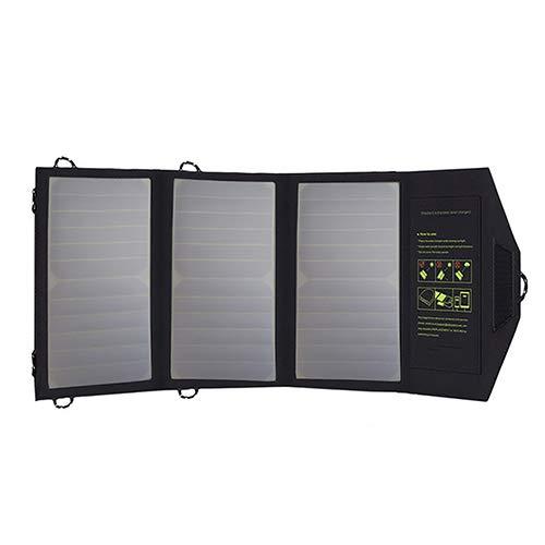 Cargador solar para teléfono celular portátil 21W plegable plegable impermeable panel solar cargador Banco de energía...